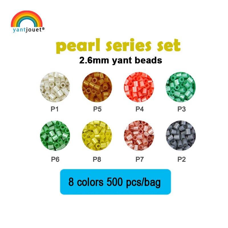 Yantjoet conjunto de 2.6mm de pérola, conjunto de quebra-cabeças diy de 8 cores 4000 peças para criança, hama perler, faça você mesmo, feito à mão brinquedo do presente das crianças