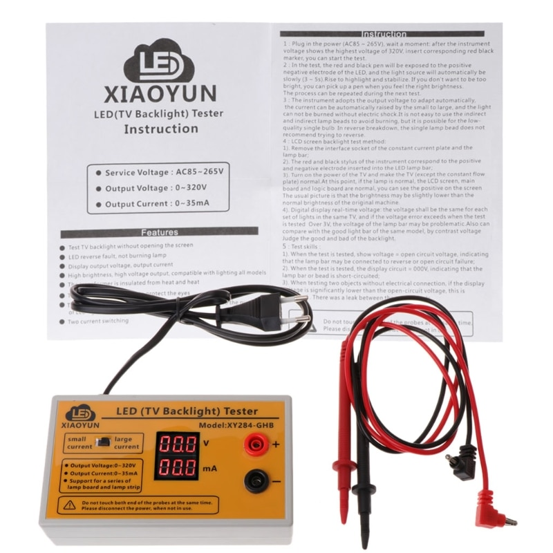 0-320v saída led tv backlight tester multiuso led tiras grânulos ferramenta de teste wf4458037
