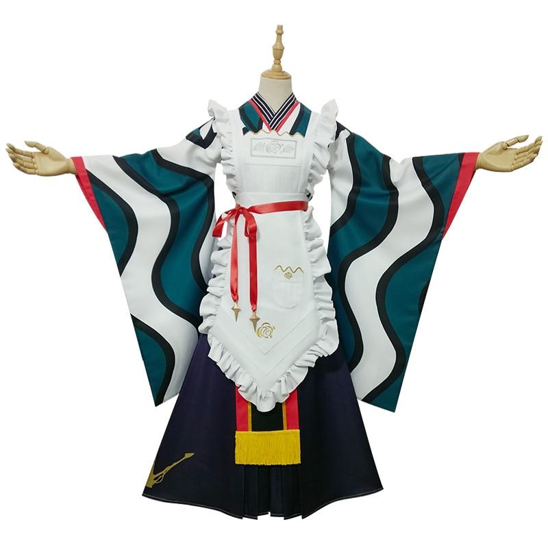 Anime Rozen Maiden Suiseiseki 15 ° aniversario Taisho Kimono precioso vestido Halloween cosplay disfraces regalo guantes pendiente