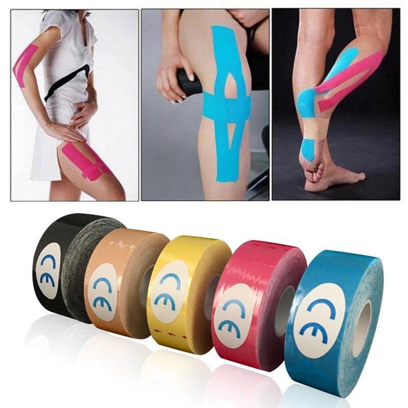 Mayitr um rolo elástico kinesiology esportes fita muscular cuidados com a dor fitas musculares terapêuticas para diy ferramentas de exercício 2.5cm x 5m