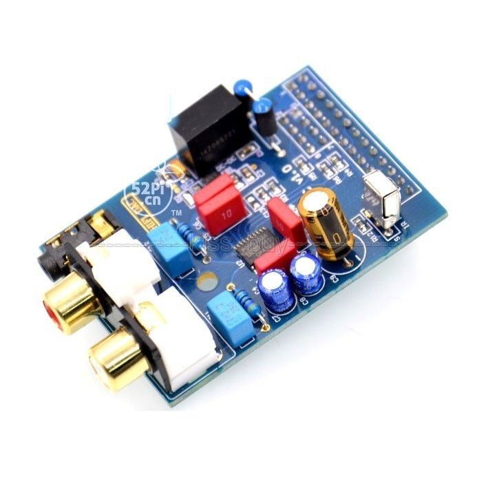 PCM5102A para Raspberry Pi B HIFI DAC de alta fidelidad Módulo de tarjeta de sonido I2S para Raspberry Pi Versión B RPI B