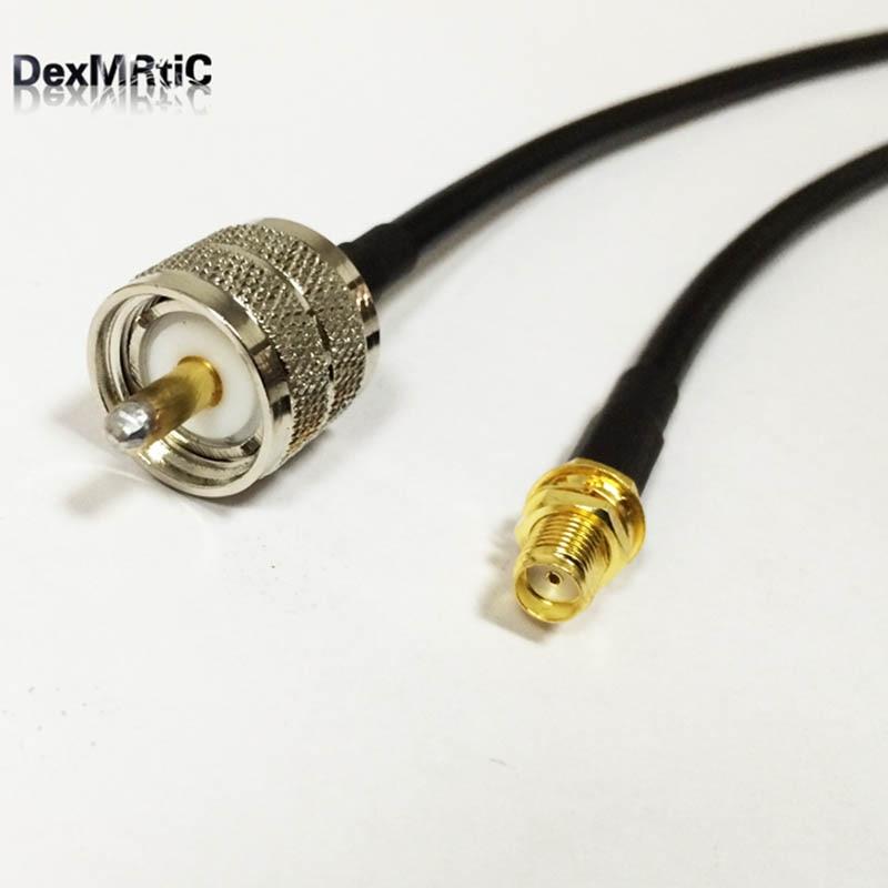 Antena cabo externo sma porca fêmea para uhf macho pl259 trança adaptador rg58 50 cm/100 cm preço por atacado