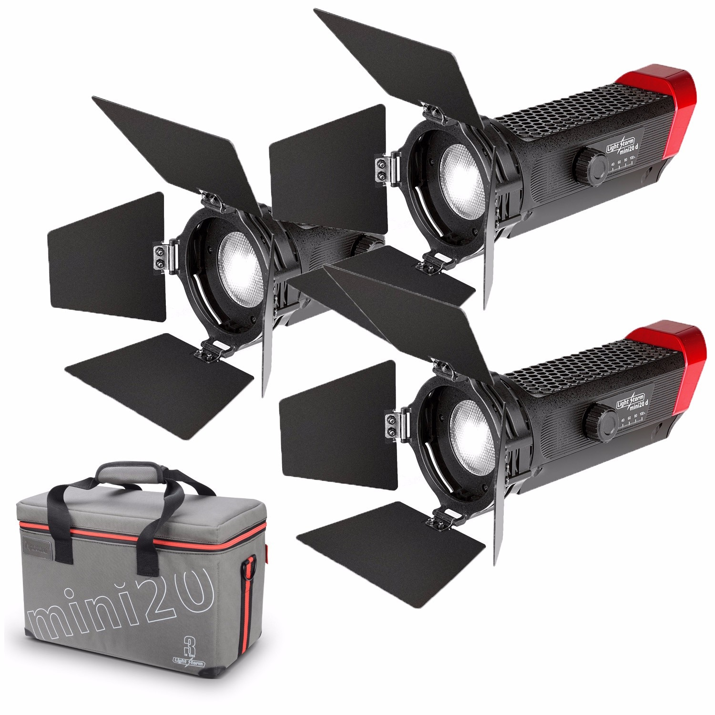 Kit de luz LED para vídeo Aputure LS-mini20 luz LED Fresnel TLCI CRI 96 + sumerge su luz de 20 a 80 grados