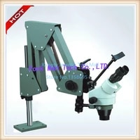 free shipping jewelry microscope 7x 45x diamond setting microscope with 8w led light source free