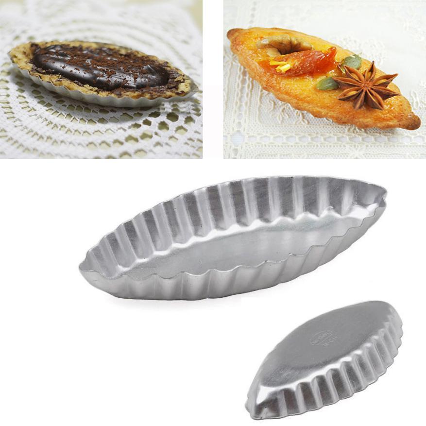 5pcs/lot Large Size Egg Tart Sailing Boat Aluminum Cake Birthday Tin Bakeware Pan Baking Mold Cake Decorating Tools -25