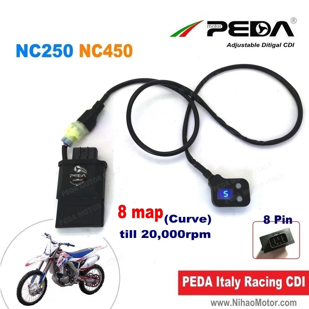 Motocicleta ajustable CDI inteligente mapa remoto NC250 NC450 Zongshen DC Digital 8 curva ilimitado bobina de encendido de competición RX3 motoland