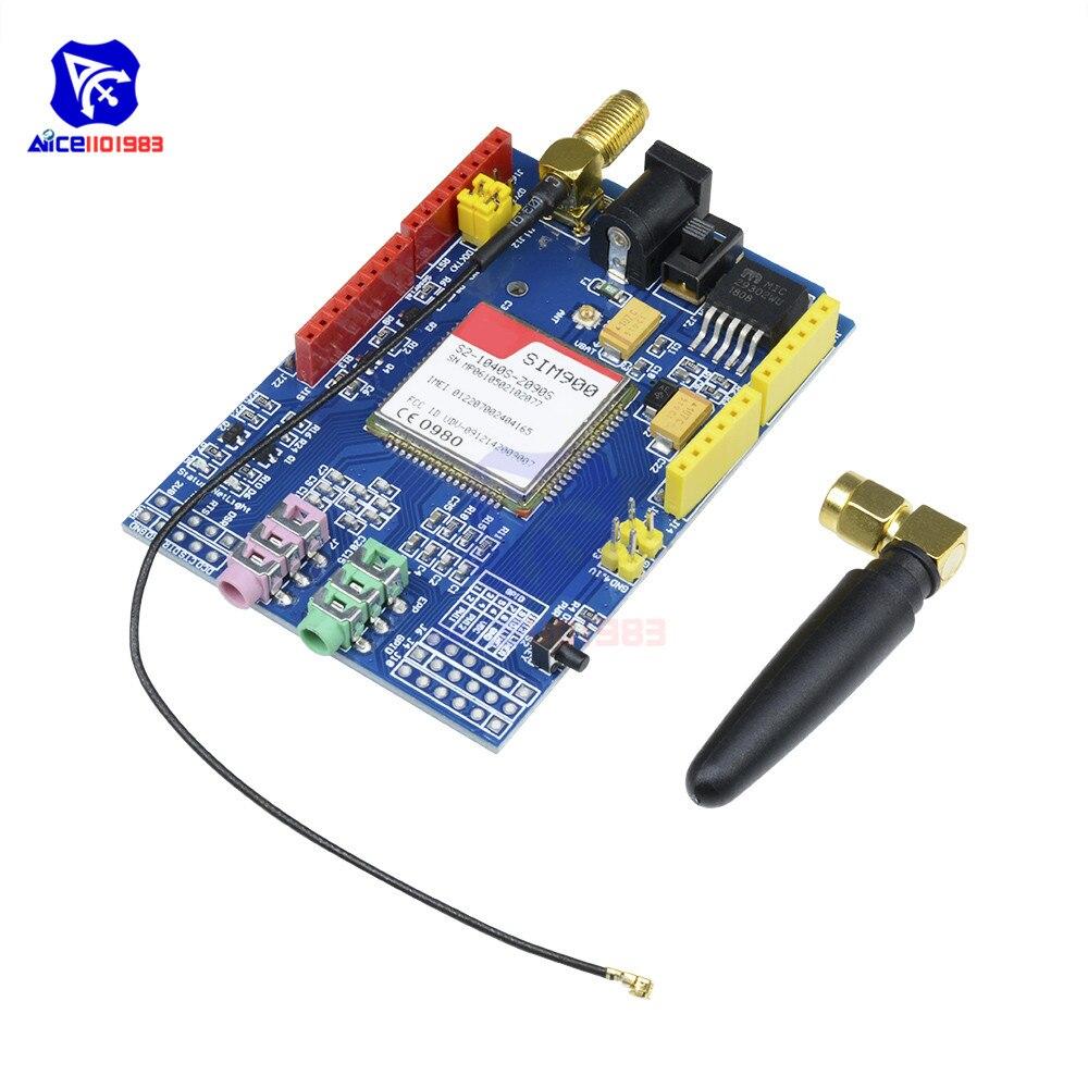 Diymore SIM900 850/900/1800/1900 МГц GPRS GSM модуль макетная плата с IPX интерфейсная антенна для Arduino UNO GPIO PWM RTC