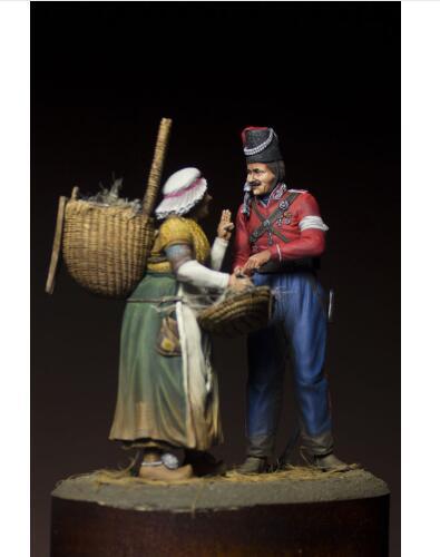 1/24 75MM antiguos cosacos rusos en París 75MM figura de resina en miniatura kits miniatura gk Unassembly sin pintar