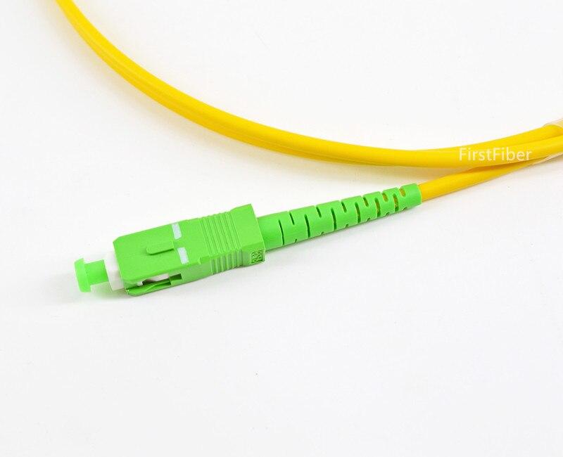 0,5 m SC fibra APC parche Cable FTTH fibra óptica parche Cable 2,0mm PVC G657A, puente simple