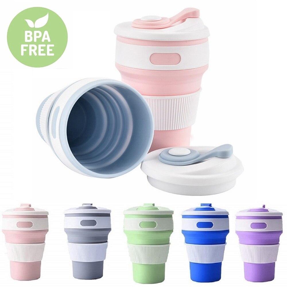 Taza de silicona plegable taza de silicona portátil telescópica para beber taza de café plegable taza de silicona plegable taza de agua de viaje