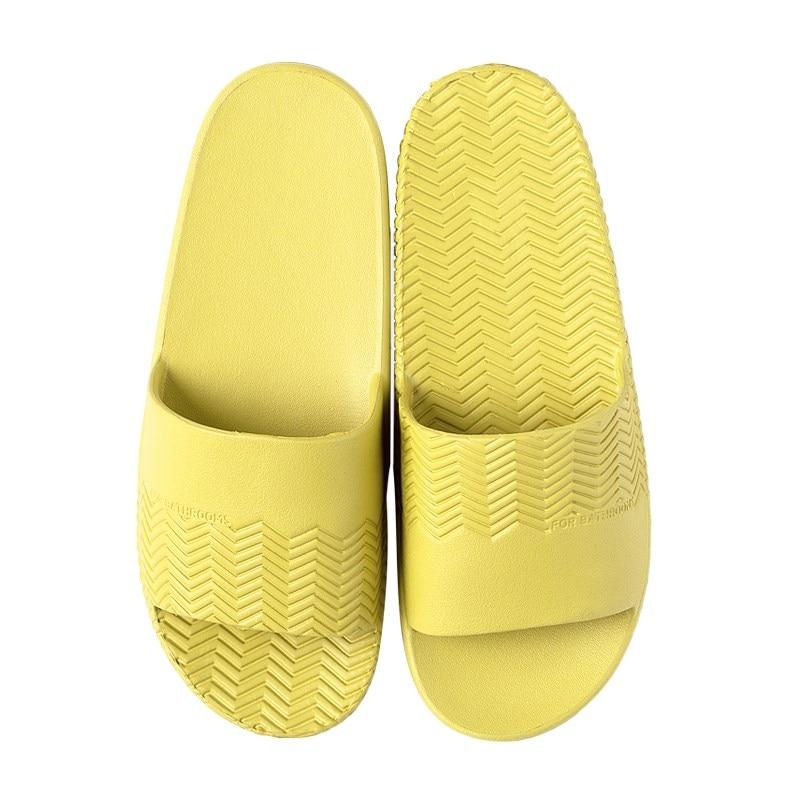 2019 new Summer trendy ripple slippers female indoor home non-slip soft bottom bathroom  couple thick bottom sandals slippers