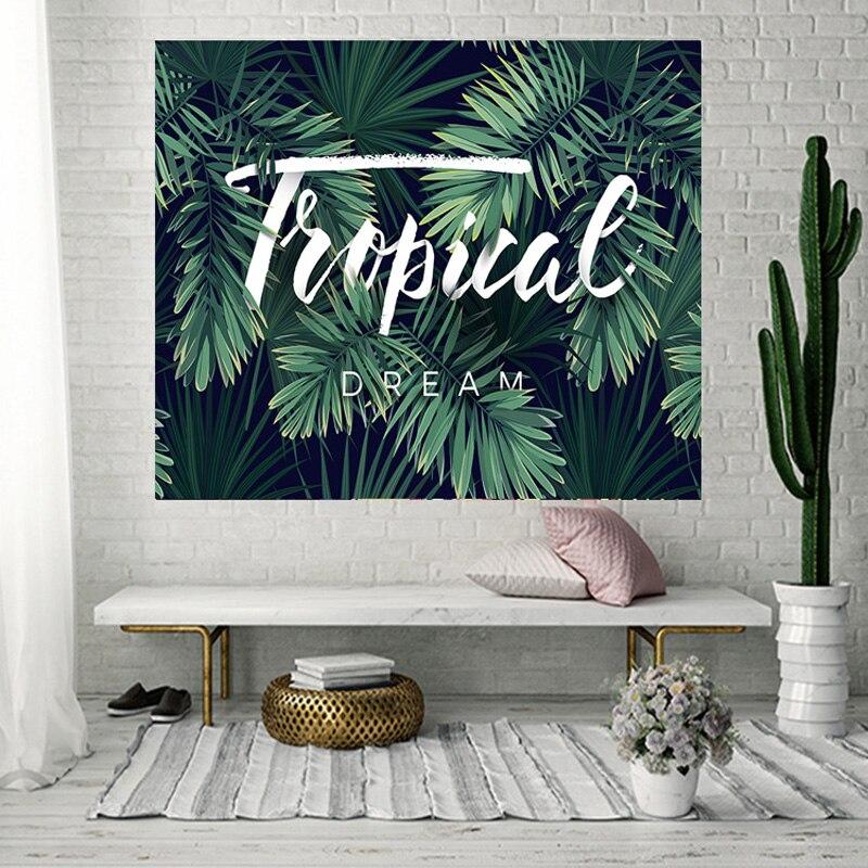 3D plantas Tropicais Tapeçaria Tapeçaria Hippie Retro para Decoração de Casa parede cobertor toalha Yoga Toalha de Praia 200x150 cm