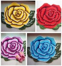 Paillasson fleuri en forme de fleur Rose 80x60cm   Livraison gratuite, tapis de sol dentrée antidérapant, tapis pour salon, alfombras