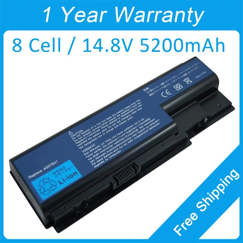 Batería de 8 celdas para ordenador portátil, para acer Aspire 6530, 6920,...