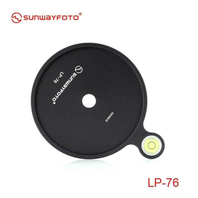 Sunwayfoto LP-76 dodatkowy przesunięty poziomica pęcherzykowa o średnicy 76mm do głowicy statywu
