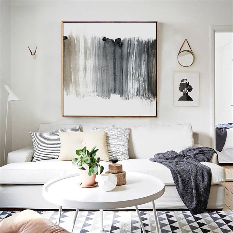 Современная картина HAOCHU, черно-белая, крутая, художественная живопись на холсте, абстрактный постер с маслом, настенные картинки для украшения гостиной