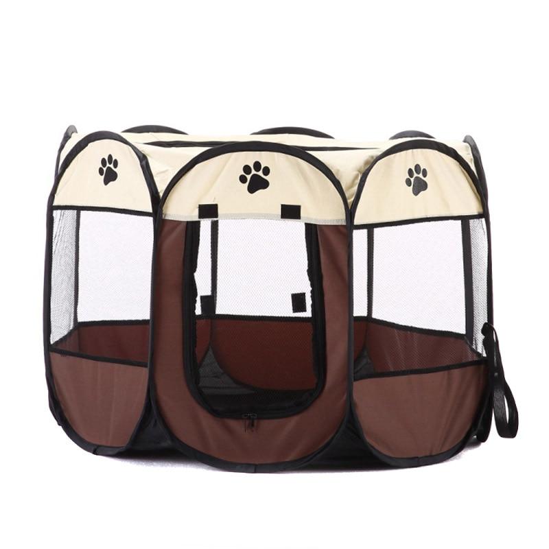 Portátil plegable cachorro perro mascota gato conejo tela Playpen jaula perrera suministros para mascotas HG99
