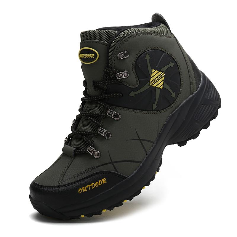 Zapatos de Senderismo cálidos para hombre y mujer, zapatillas de cuero para...