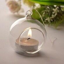 Chandelier en verre cristal pour décoration   Offre spéciale, bougeoirs romantiques pour fête de mariage #47315