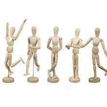 1 peça 16 articulações móveis homem de madeira figura brinquedos bonecas com pé flexível homem de madeira arte desenhar bonecas nu modelo de brinquedo para o miúdo