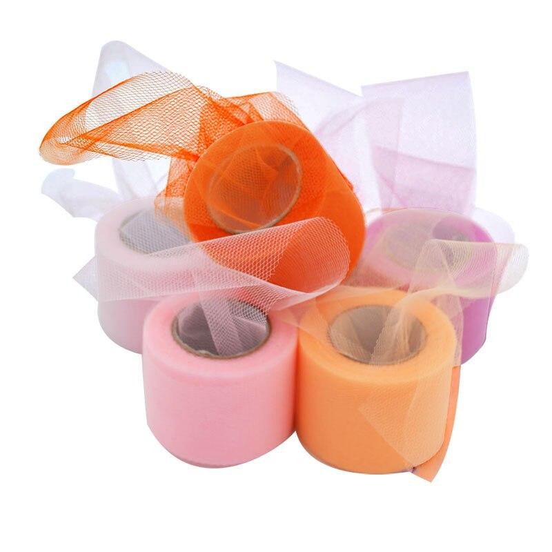 Bobine de tissu Organza 25 Yards 5cm   Rouleau de Tulle pour décoration de mariage, bricolage jupes Tutu pour filles, fournitures de réception-cadeaux pour bébé ceintures de chaise 7Z