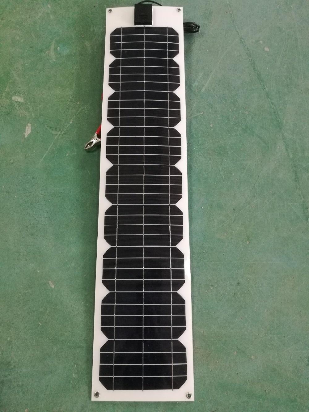 Flexible Panel Solar 12v 20w 40w 60w 80w 100W 18v impermeable batería...