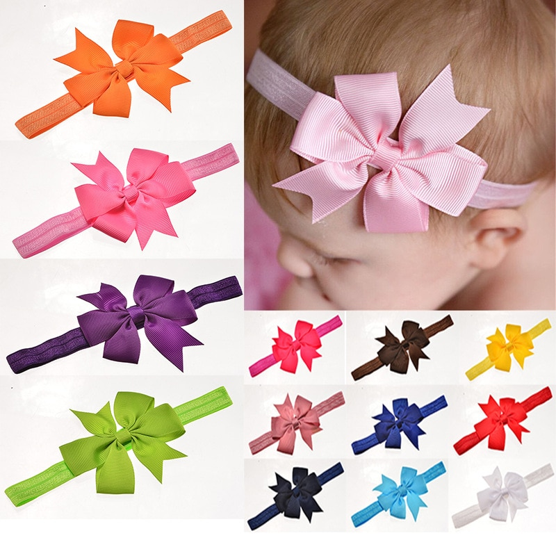 2018 Hot Hair Bands Floral For Girls Selling Kids Headband Baby Girls Flower Headband Lace Bow Hairb