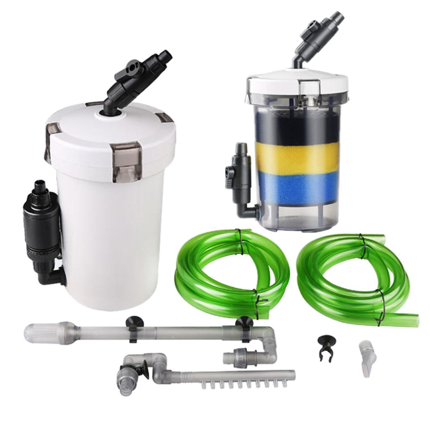 220-240V Sunsun Mini Filtro de acuario externo bote de peces tanque marino prefiltro cilindro esponja filtro Aquairum Accesorios