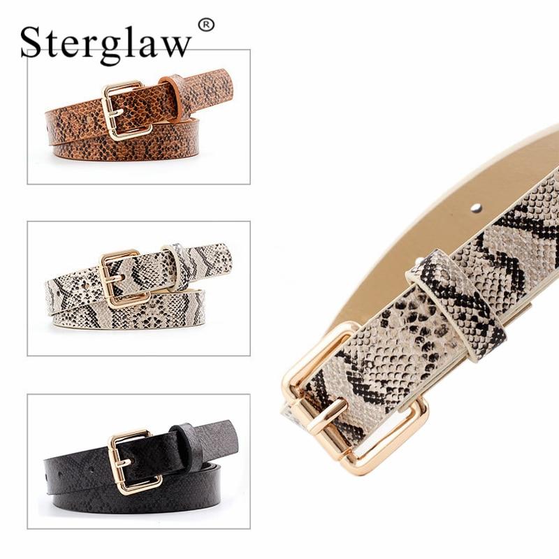 105x2,3 cm de mujer de alta calidad de cuero de la pu serpiente cinturón de cintura 2020 mujeres diseñador actual cinturones para mujer vestido de cinto femenino N261