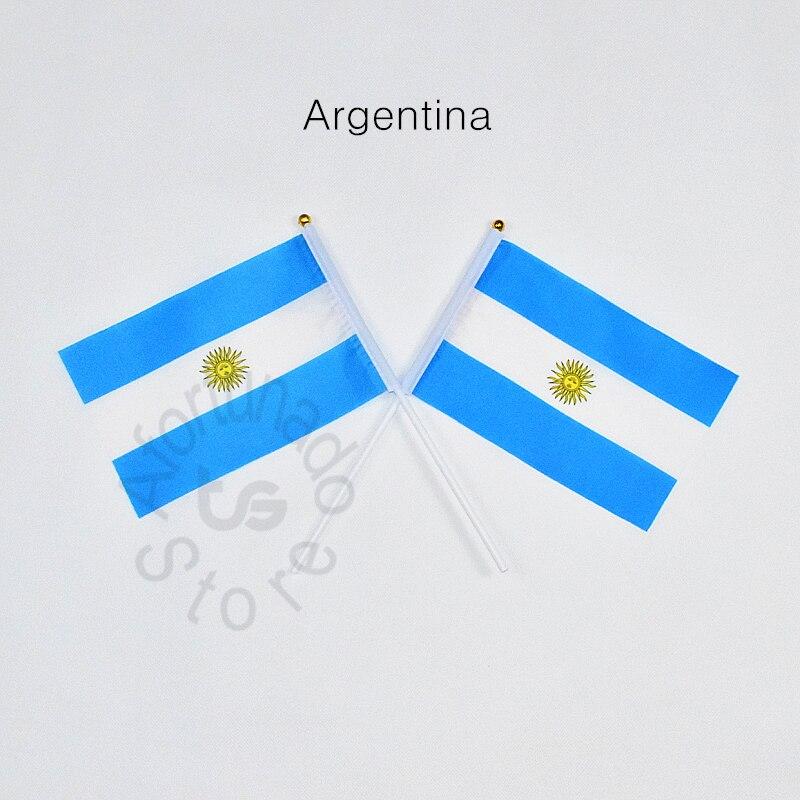 Argentina 14*21cm bandeira frete grátis reunião desfile festa mão acenando bandeira nacional decoração para casa bandeira bandeira