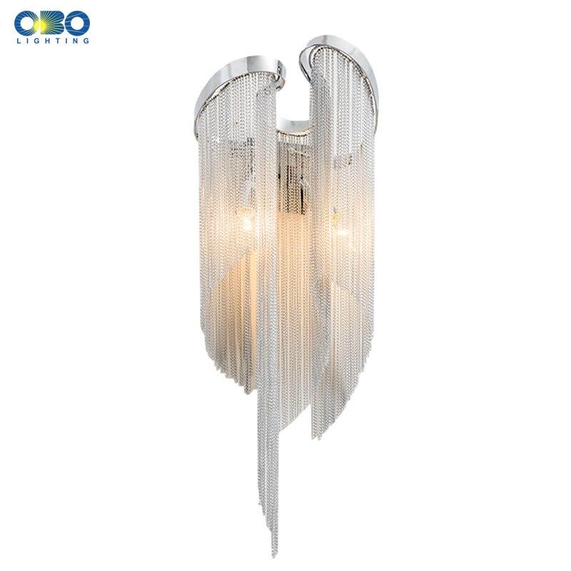 Настенный светильник E14, с алюминиевым покрытием, для спальни, фойе, столовой, 110-240 В, бесплатная доставка
