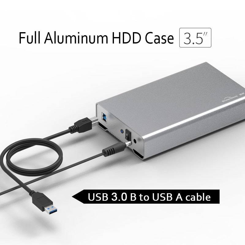 Full aluminum Alloy 2.5 and 3.5 inch Hdd Enclosure Type C 3.0 / USB A sata usb 3.0 Hard Disk Caddy for 7.9mm 9.5mm thickness ssd