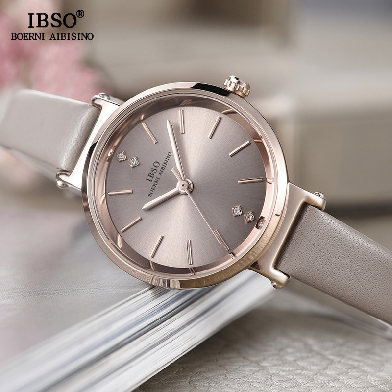 IBSO 8 MM Ultra-Thin Wrist Women Watches Luxury Female Clock Fashion Montre Femme 2020 Ladies Quartz Watch Relogio Feminino enlarge