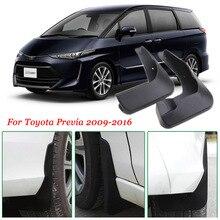 Garde-boue moulée robuste 4 pièces   Garde-boue Premium pour Toyota Previa 2009-2016
