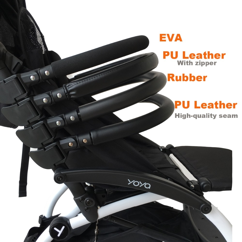 Baby Stroller Accessories Armrest for Yoyo Yoya Yuyu Vovo Pushchair front Bumper Leather Cover Handle