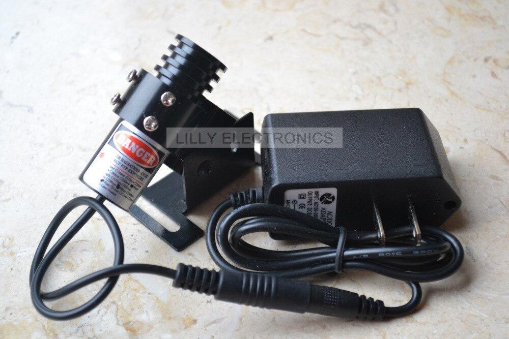 850nm 100 mW IR Infrared Laser Focusable Dot Módulo + 5.0 V AC Adapter + Mount
