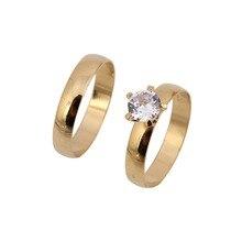 Juego de anillos de 2 uds de cristal africano para boda para hombres y mujeres