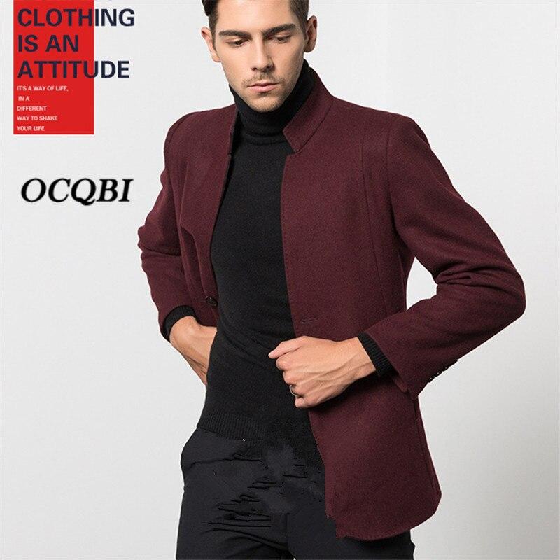 زائد حجم M-3XL 2020 الذكية عارضة رجل معاطف معاطف أزياء الشتاء مصمم اللباس معطف رجالي عالية الجودة