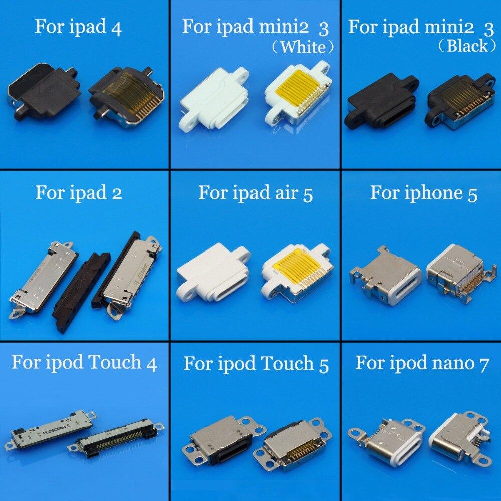 Tableta PC teléfono móvil enchufe de carga Micro USB conector jack mini puerto de repuesto para apple para ipad 4/2/ mini/para ipod de aire