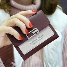 Women Wallets Small Fashion Brand Leather Purse Ladies Card Bag For Women Clutch Female Short Purse Money Clip Wallet 145