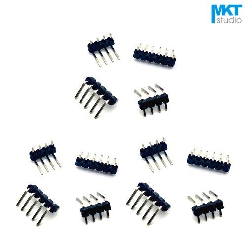 100 pcs Right Angle Dobre 2.0mm Pitch 1 x PTH 40 p Single Row Masculino Pin Header Faixa Para arduino 24 22 p p p p p p 32 30 28 26 25 p