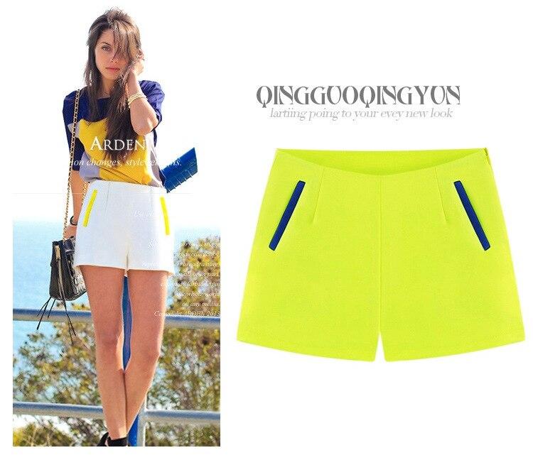 Women Short Pants 2016 Spring and Summer New Fashion Slim Women High Waist Shorts Pants Lady Short Trousers Women's shorts S-XXL
