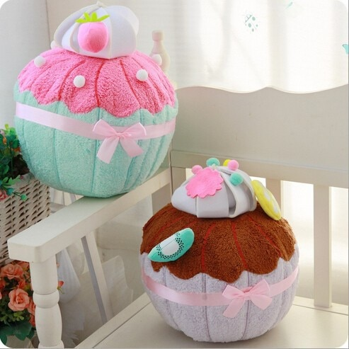 35x25cm ice-cream cake pillow cushion sofa plush doll cupcake throw backrest pillow back cushion dessert birthday gift