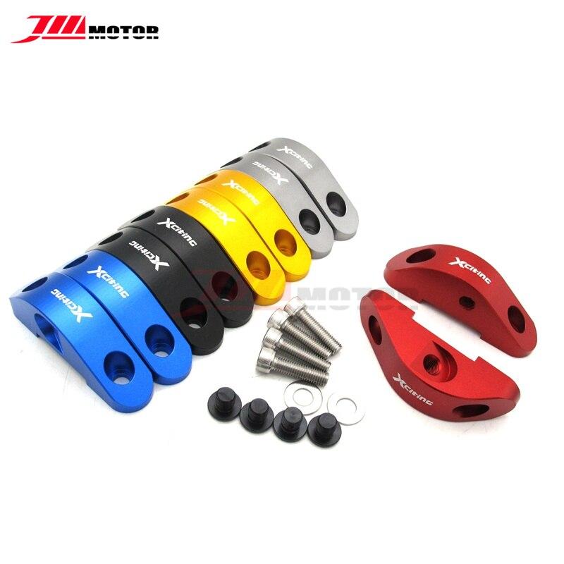 Motocicleta cnc espelho extension bracket kit espelho buraco adaptador tampa para kymco xciting 250 300 nikita 200 300 centro 200i 300i