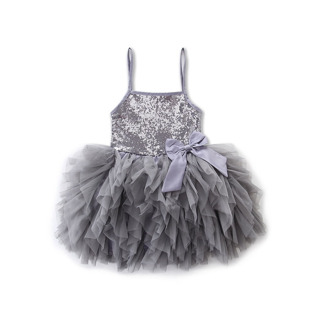 2018 novo bonito meninas vestido de princesa crianças bebê festa lantejoulas pageant rendas vestidos roupas