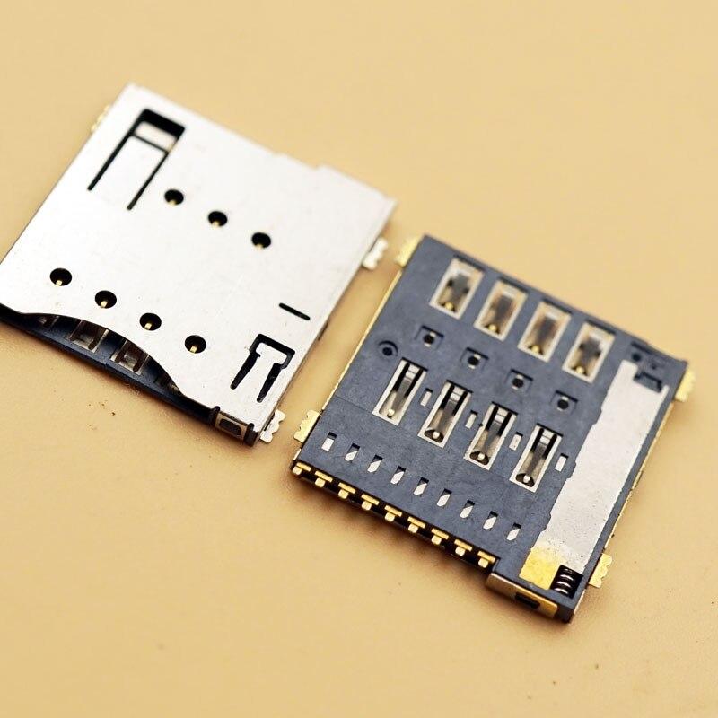 10 шт., MUP-C792, оригинальный разъем для Micro sim-карты, самопирсинг, 6 + 1 P / 8 + 1 P, гнездо для карты памяти