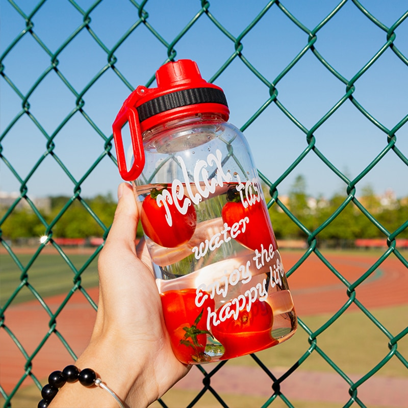 Ruida 750ml 1000ml única camada de vidro borosilicato garrafa de água portátil criativo presente garrafa st035