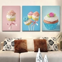 Peinture murale coloree sur toile pour enfants  decoration de chambre denfant  sans cadre