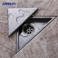 aodeyi hidden type triangle tile insert floor waste grates shower drain 232mm117mm 304 stainless steel floor drain11 184