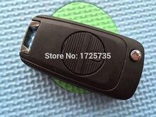 Porte-clés de coque de voiture à boutons   Rabattable à distance, pour Nissan Micra alprimera X-Trail avec lame A33 A32, pas de LOGO, 10 pièces/lot de 2 boutons
